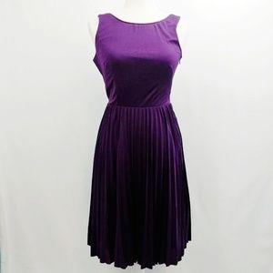 Betsey Johnson Dress Purple A-Line Open Back Sz 2